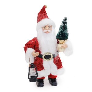 Noel com Pinheiro e Lanterna Vermelho - Jogo com 3 Peças