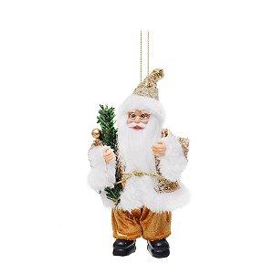 Noel Paetê com Frutas Ouro M - Jogo com 3 Peças