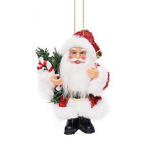 Noel com Pinheiro e Candy Cane Vermelho P - Jogo com 3 Peças