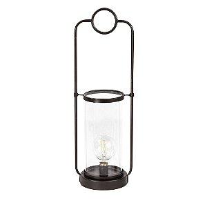 Luminária de Metal G com de Vidro18x15x56cm