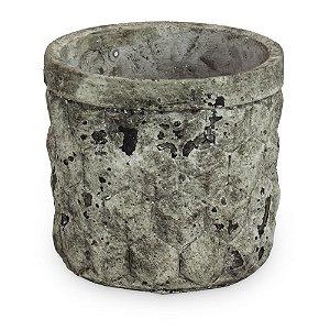 Vaso Terracota Envelhecido Losangos
