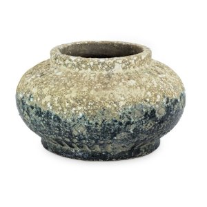 Vaso de Cerâmica com Verde Degradê G