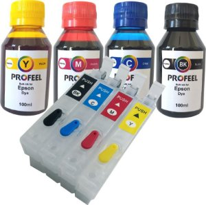 Cartucho Recarregavel para epson XP214 XP411 XP204 XP401 com tinta Corante