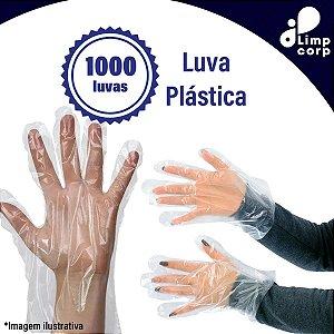 Kit 1000 luvas de Polietileno Plástica (Descartável) - Para Restaurantes, Lanchonetes, Sorveterias e Mais