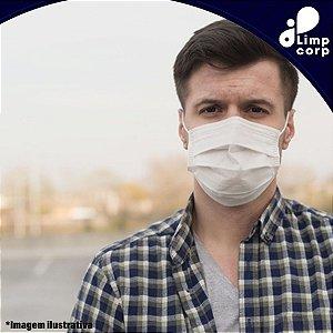 Máscara Descartável - 100 unidades - Tripla Proteção Com Clip Nasal