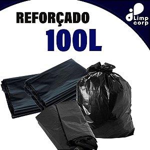 Saco para Lixo - 100 Litros - Reforçado - 100 unidades
