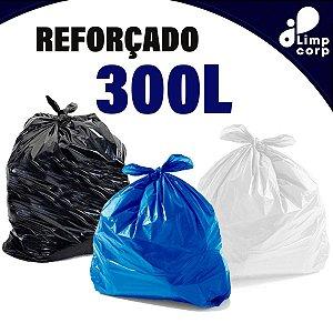 Saco para Lixo - 300 Litros - Reforçado - 100 unidades