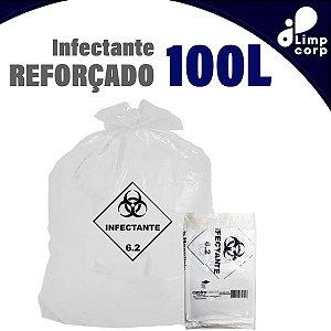 Saco para lixo infectante - Reforçado - 100 Litros - 100 unidades