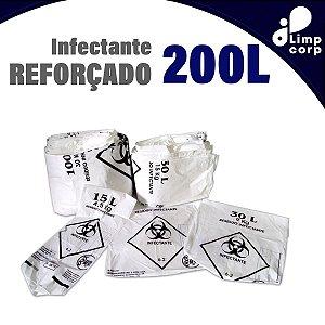 Saco para lixo infectante - Reforçado - 200 Litros - 100 unidades