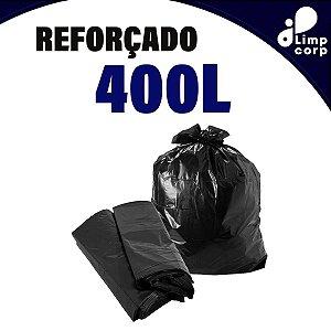 Saco para Lixo - 400 Litros - Reforçado - 100 unidades