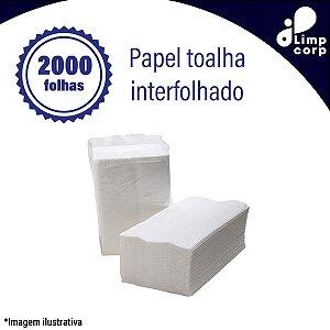 Papel toalha interfolhado - 2000 mil folhas celulose