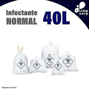Saco para lixo infectante - Normal - 40 Litros - 100 unidades