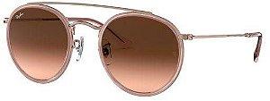 Óculos de Sol Ray-Ban Round Double Bridge Feminino / Masculino 0Rb3647n9069a551