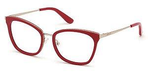 Óculos Guess Vermelho Gatinho Metal Feminino GU2706 52 068