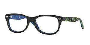 Óculos Ray Ban Juvenil JR RB 1544 3600 Preto e Azul