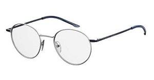 Óculos Seventh Street 7a 030 scb 140 Titanium Grafite com azul petróleo