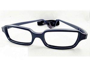 Óculos infantil Miraflex maya 42 Dobrável Cinza escuro