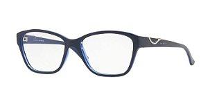 Armação Jean Monnier Feminina Azul J8 3156 E693 + Lente 1.56 com Antirreflexo