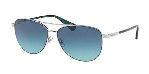 Solar Ralph Lauren 4122 31614s Metal com lente azul