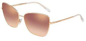 Óculos Solar Dolce & Gabanna DG 2208 12986f62 Metal Rosé com Lente Espelhada