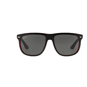 Óculos de Sol Ray Ban RB4147L-617187 Preto fosco com detalhes em vermelho