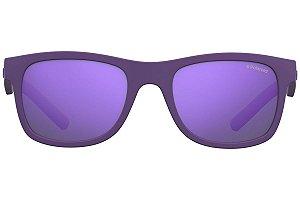 Óculos Infantil Polaroid pld 8020/s 2q1 Roxo com lente espelhada roxa