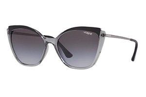 Solar Feminino Vogue vo 5266-sl 271411 Cinza translúcido com preto