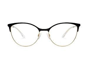 Óculos Feminino Emporio Armani EA 1087 3014 Metal Preto com Dourado