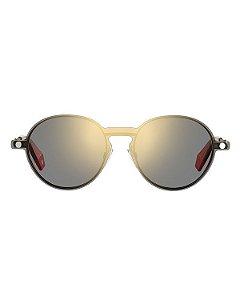 Óculos Feminino com Clip On Polaroid pld 6082/g/cs j5g99 Dourado