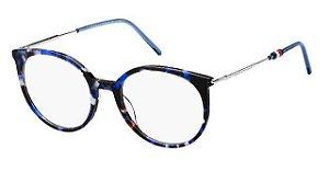 Óculos Feminino Tommy Hilfiger th 1630 ipr Tartaruga azul redondo