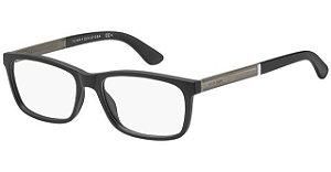 Óculos Masculino Tommy Hilfiger th 1478 003 Preto fosco e grafiti