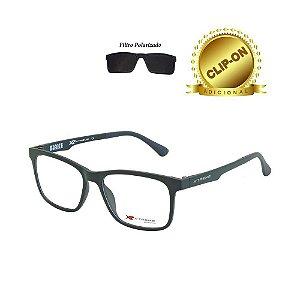 Óculos X-Treme com Clip On T195-VN C7 Double Verde Fosco