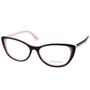 Óculos Victoria's Secret VS 5009 001 Preto e Rosa