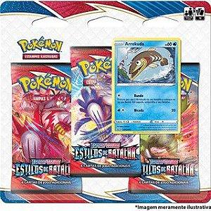 Pokémon Triple Pack - Estilos De Batalha - Barracuda