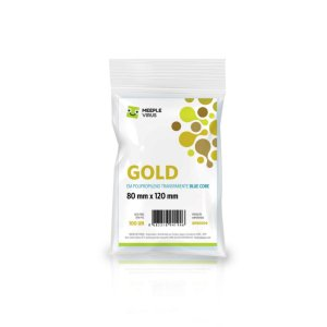 Sleeve - Meeple Virus GOLD 80x120mm