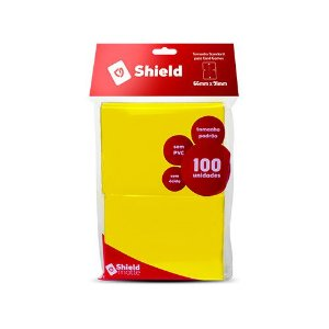 Sleeve - Central Shield PADRÃO 66x91mm - Amarelo