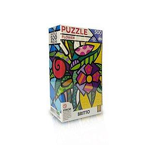 Quebra-Cabeça - Puzzle Flower - Romero Britto 500pçs