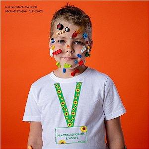 Camiseta Infanto Juvenil Cordão de Girassol #autismo (Algodão)