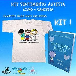 Kit Sentimento Autista - Camiseta + Livro