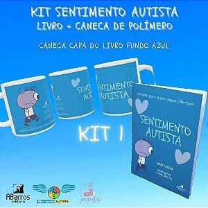 Kit Sentimento Autista: Caneca de polímero + livro