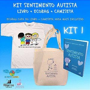 Kit Sentimento Autista: Ecobag + Camiseta + Livro