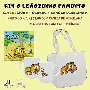 Kit Livro O Leãozinho Faminto - Livro + Ecobag + Caneca Leãozinho
