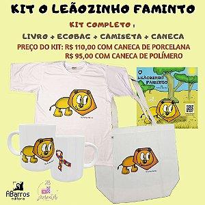 Kit Livro O Leãozinho Faminto - Livro + Camiseta + Ecobag + Caneca Leãozinho