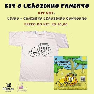 Kit Livro O Leãozinho Faminto - Livro + Camiseta Infanto Juvenil Leãozinho Contorno