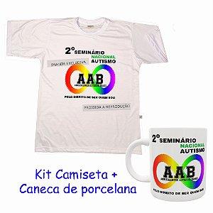 Kit Camiseta ou Baby Look + Caneca 2º Seminário Nacional Autismo AAB