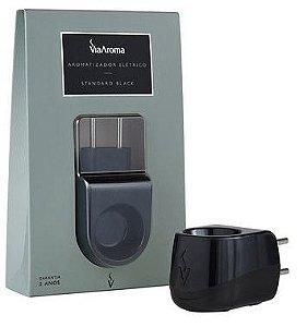 Aromatizador Difusor de Aroma Elétrico Via Aroma, Standard Black, Bivolt, Plástico, Preto