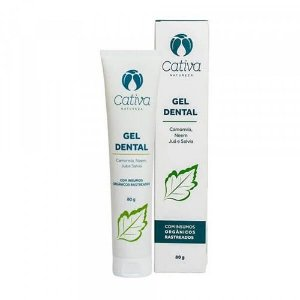 Gel Dental Cativa Natureza 80 g, Menta