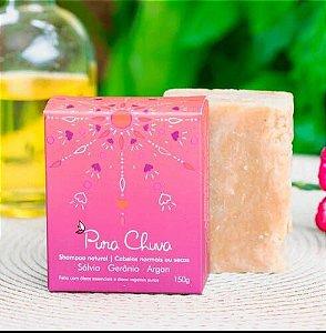 Shampoo Natural em barra Sálvia, Gerânio e Argan – Cabelos Normais ou Secos - 150g - Pura Chuva