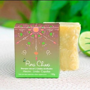 Shampoo Natural em barra Limão, Alecrim e Copaíba – Cabelos Danificados - 150 g - Pura Chuva