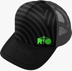Boné Trucker Aba Curva Maratona do Rio